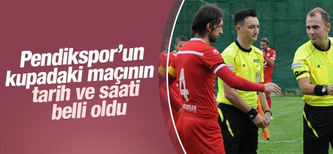 Pendikspor'un Kupadaki Maçının Tarih ve Saati