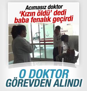 Karaman'daki acımasız doktor görevden alındı