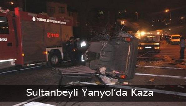 Sultanbeyli Yanyol´da Kaza