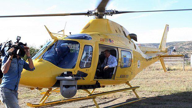 Ali Rıza Alaboyun'dan Seçim öncesi helikopterli denetim