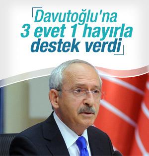 Kemal Kılıçdaroğlu'ndan Başbakan Davutoğluna 3 evet 1 hayır