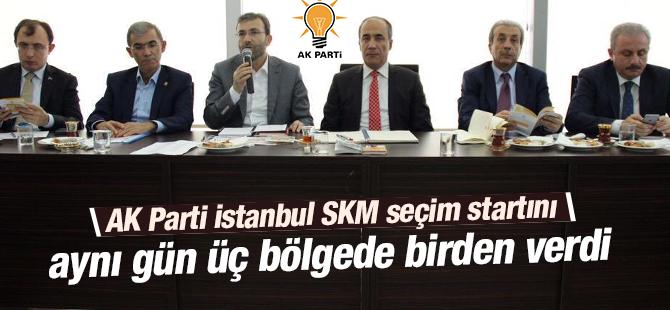 AK Parti SKM Seçim Startını Üç Bölgede Birden Verdi