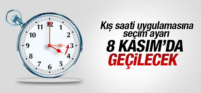 Kış Saati Uygulamasına 8 Kasım'da Geçilecek