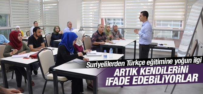 Suriyelilerden Türkçe eğitimine yoğun ilgi