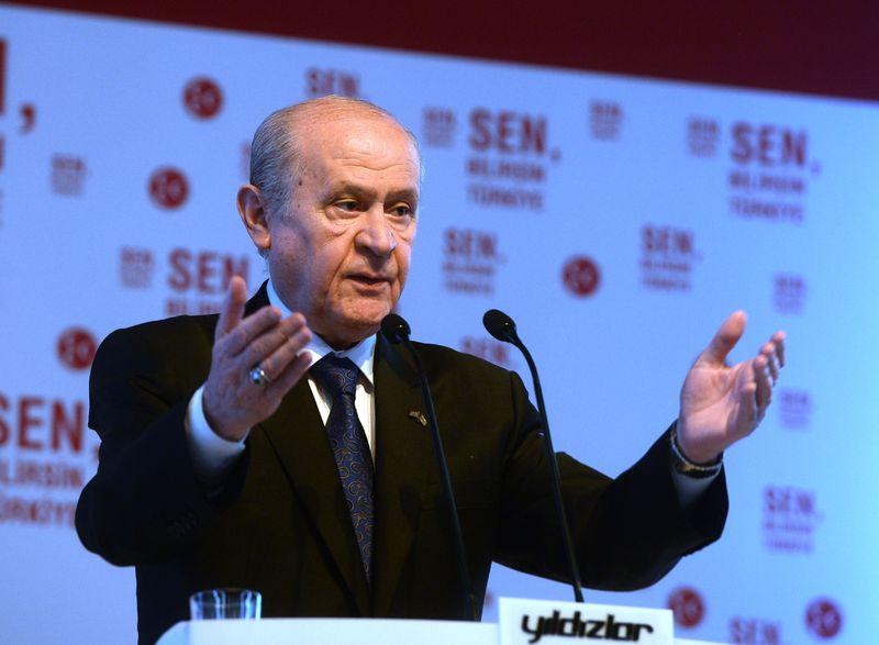 Devlet Bahçeli MHP'nin seçim Bildirgesini Açıkladı