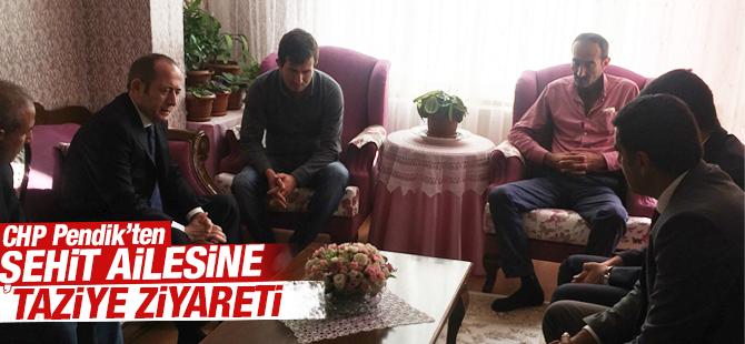 CHP Pendik'ten Şehit Ailesine Taziye Ziyareti