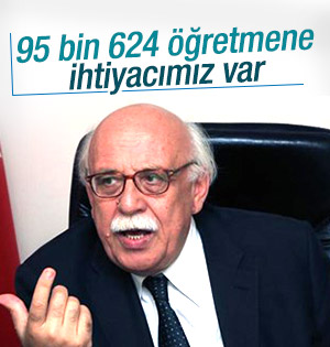 Milli Eğitim Bakanı  65 bin 624 öğretmene ihtiyaç olduğunu söyledi