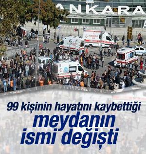 """Ankara Gar Meydanı'nın ismi """"DEMOKRASİ"""" olarak Değişti"""