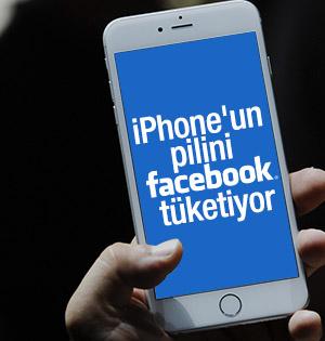 iPhone'un pil sorununun Facebook Tüketiyor