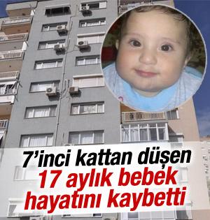7'inci kattan düşen bebek hayatını kaybetti