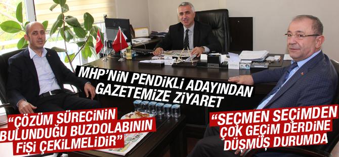 MHP'nin Pendikli adayı Ekrem Düzgün'den Gazetemize Ziyaret