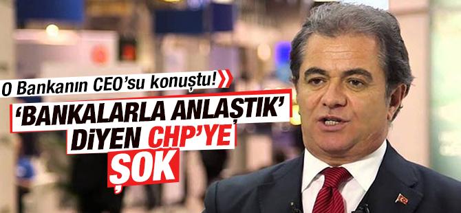 'Bankalarla Anlaştık' Diyen CHP Deniz Bank CEO'sundan Şok Tepki