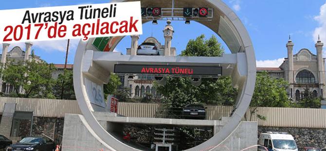 Avrasya Tüneli 2017'de Açılacak