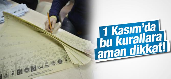Oy kullanımında dikkat edilmesi gerekenler