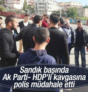 Kocaeli'de sandık başında AK Parti-HDP kavgası
