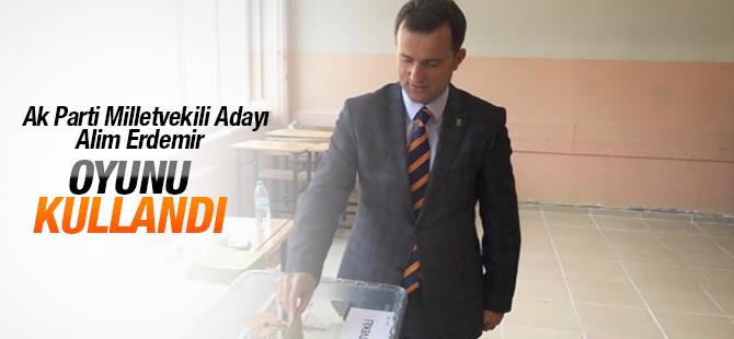 AK Parti İstanbul Milletvekili Adayı Alim Erdemir Oyunu Kullandı