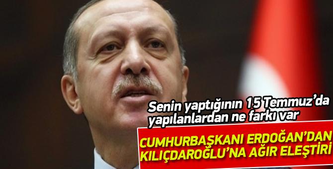 Cumhurbaşkanı Erdoğan'dan Kılıçdaroğlu'na yürüyüş eleştirisi