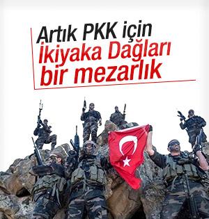 İkiyaka dağları PKK'dan temizlendi