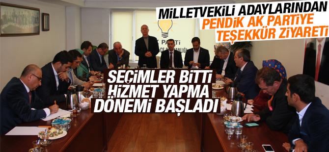 Milletvekili Adaylarından Pendik AK Parti'ye Teşekkür Ziyareti