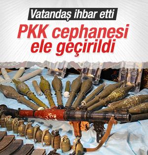 PKK'nın Cephanesi İhbarla Ele Geçirildi