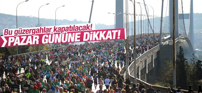 Pazar günü İstanbul'da trafiğe kapalı yollar ve Alternatif yollar