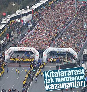 Kıtalararası Avrasya Maratonu'nun kazananları belli oldu