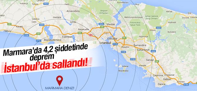 Marmara Denizi'nde 4,2 Şiddetinde Deprem! İstanbul da Salladı