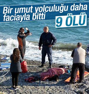 Yunanistan'a geçmek isteyen mülteci botu battı! 9 Ölü
