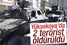 Hakkari Yüksekova'da 2 terörist öldürüldü
