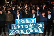 Tokat'ta Türkmen Dağı protestosu