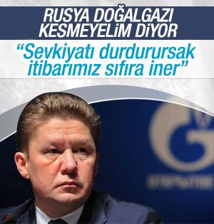 Gazprom: Sevkiyatı durdurursak itibarımız sıfıra iner