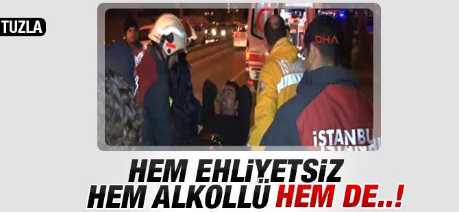 Alkollü ve Ehliyetsiz Sürücü Polisin Şapkasını Aldı
