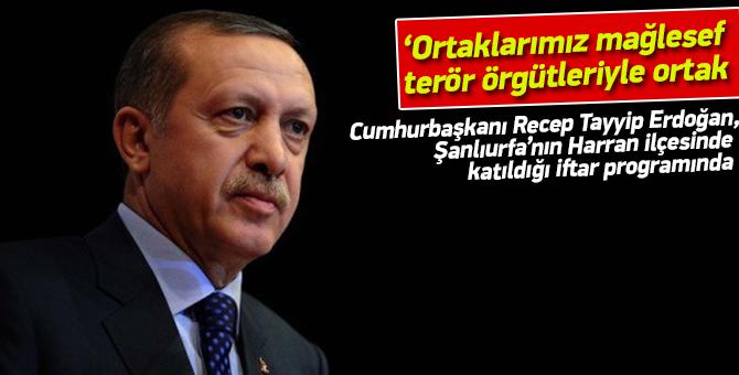 """Cumhurbaşkanı Erdoğan: """"Ne yazık ki stratejik ortaklarımız terör örgütleriyle ortak hareket ediyor"""""""