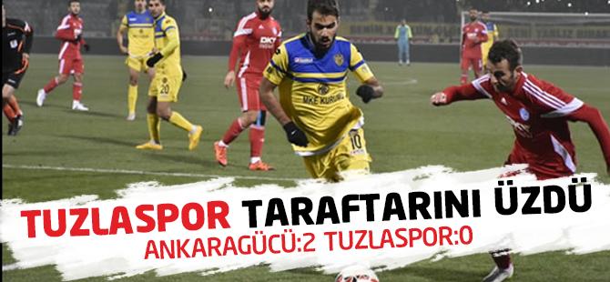 Ankaragücü, Tuzlaspor Taraftarını Üzdü