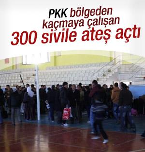 Şırnak'ta PKK'lılar kaçmak isteyen sivillere ateş açtı