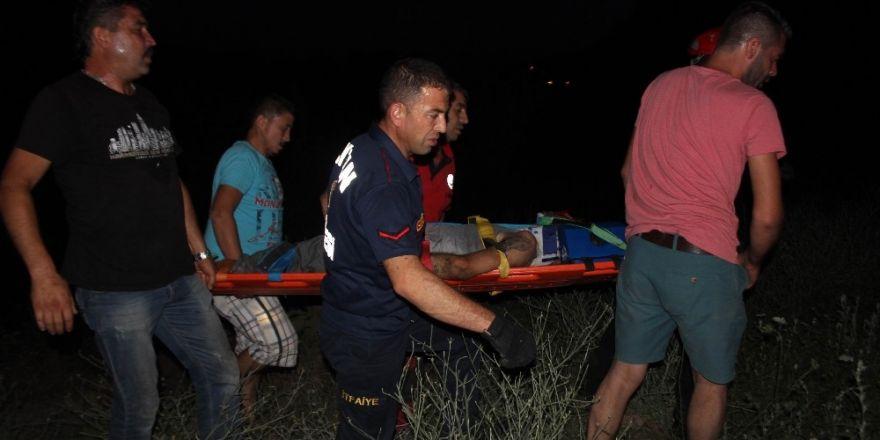 Uçurumdan yuvarlanan engelli uzun uğraşlar sonucu kurtarıldı