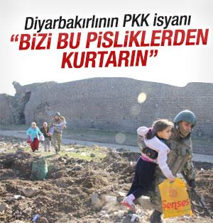 Diyarbakır Sur'daki vatandaşlardan operasyona destek