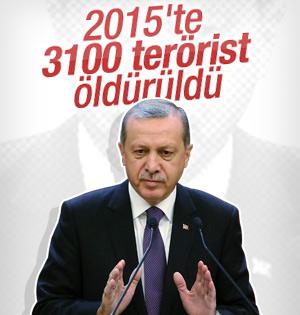 """""""Öldürülen terörist sayısı 3 bin 100'ü bulmuştur"""""""