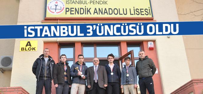 Pendik Anadolu Lisesi Badminton'da İstanbul 3'üncüsü Oldu