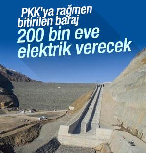 PKK'nın yapımını engellemeye çalıştığı baraj faaliyette