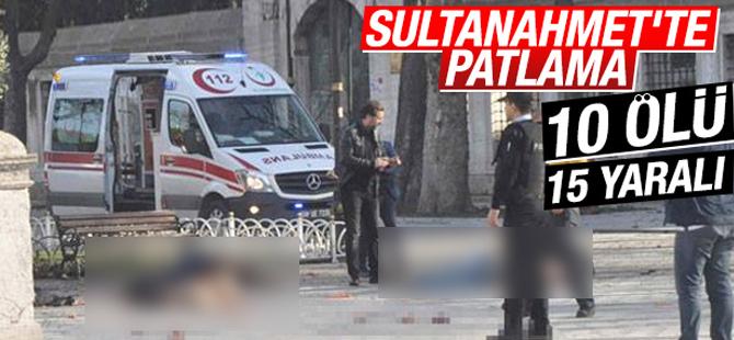 (Son dakika) Sultanahmet'te Şiddetli patlama