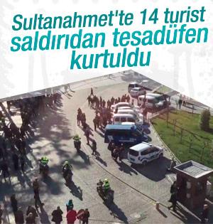 Sultanahmet'te turist rehberi daha büyük faciayı önledi
