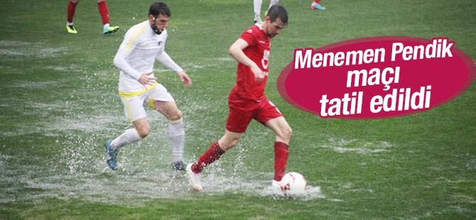 Menemen Belediyespor Pendikspor Maçı Tatil Edildi