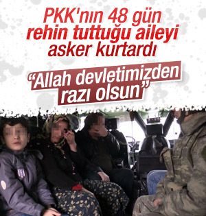 Sur'da PKK'lıların rehin aldığı aileyi asker kurtardı
