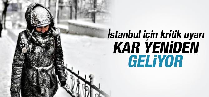 İstanbul'a Cuma günü yeni kar dalgası geliyor