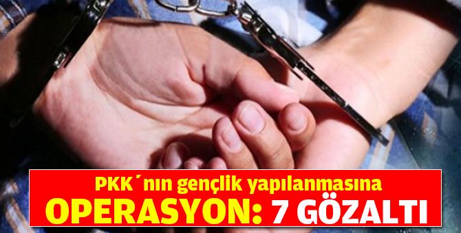 PKK'nın gençlik yapılanmasına operasyon: 7 gözaltı