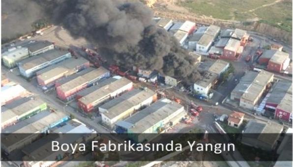 Boya Fabrikasında Yangın