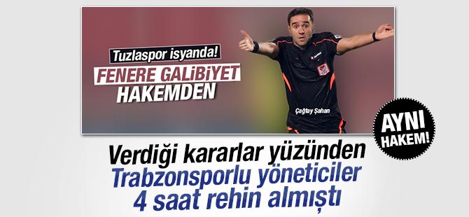 Tuzlaspor, Fenerbahçe maçını katleden Hakem Trabzonspor Maçınıda Katletmişti!