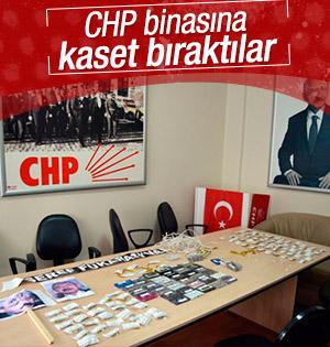 CHP Kayseri İl Binasına kaset bıraktılar