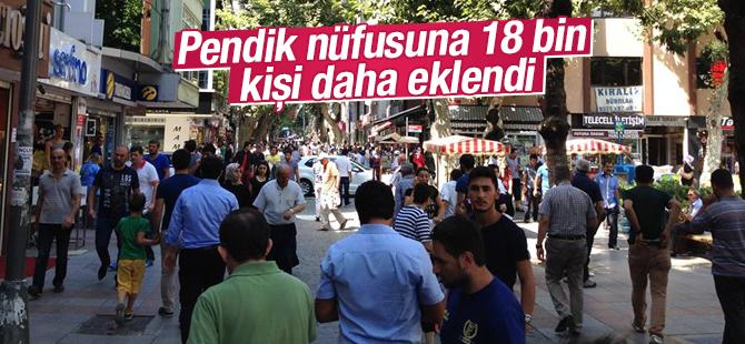 Pendik nüfusuna 18 bin 167 kişi daha eklendi.
